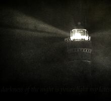 In the darkness of the night is yours light my latest hope. by Ronny Falkenstein