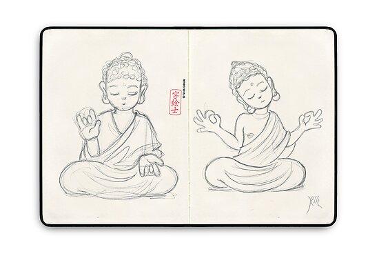 Skechbook Buddhas by 73553