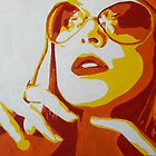 Chic Lady with Shades by Sarah McDonald