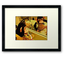 Musical Jolly Chimp Brushes His Teeth Framed Print