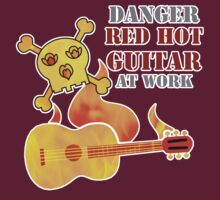 Red Hot Guitar by evisionarts