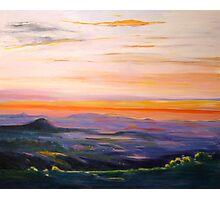 Tamborine Mountain Sunset Panorama Photographic Print