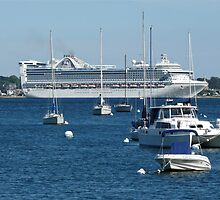 Princess Cruise Ship - Newport Harbor - Rhode Island by Jack McCabe