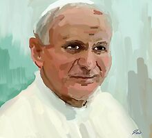 pope john paul by irisgrover