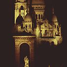 Sacre Coeur by Night by Louise Fahy