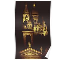 Sacre Coeur by Night Poster