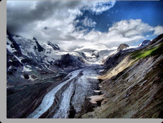 The Pasterze Glacier, Grossglockner, Austria. by Colin Metcalf