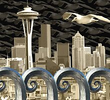 Seattlescape by Dennis  Roy Smigel