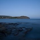 Kimmeridge bay at dusk in Dorset by Ian Middleton