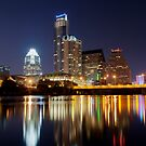 Austin Downtown from Town Lake. by John Chandler