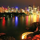 Brisbane from Kangaroo Point Cliffs by thatkellychic