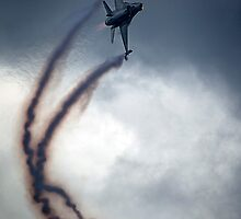 F16 Fly By by Stuart Robertson Reynolds