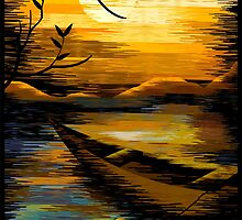 Digital image of sunset by tillydesign
