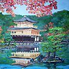 Rokuonji Kinkaku Temple - Golden Pavillion in Kyoto by Teresa Dominici