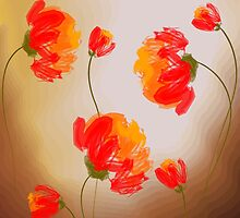 Digital painting of flowers by tillydesign