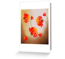 Digital painting of flowers Greeting Card