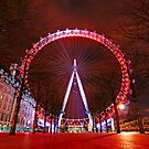 London Red Night - London Eye by DavidGutierrez