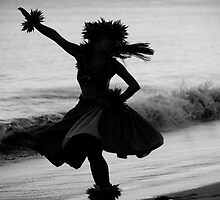 Hula Dancer on the Beach by Jessica Veltri