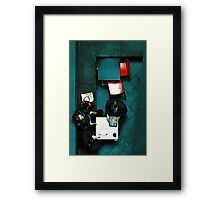Private Discourse Framed Print