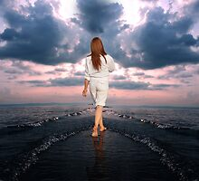 Sea listens to her... by Sajeev Chandrasekhara Pillai