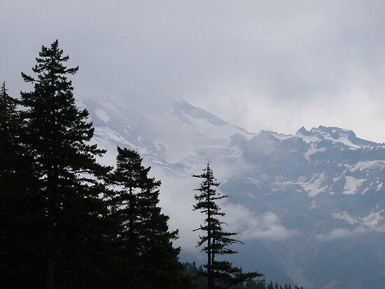 Mt Rainer in Washington by Gretchen Mayberry