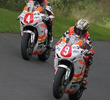 Ian Hutchinson & John McGuinness, Padgett's Honda Team by Nick Barker