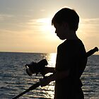 fishing with my boy by Raina DeVaney