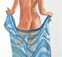 Striped sarong by Freda Surgenor