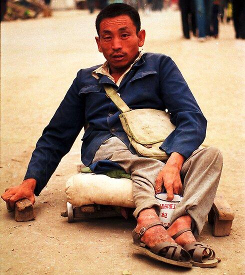 Street Scene in Tibet 1987 by jensNP