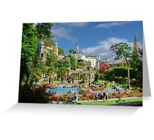 Central Plaza, Portmeirion, North Wales, UK Greeting Card