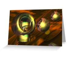 Landing on the red planet Greeting Card