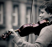 Young violinist  by Sajeev Chandrasekhara Pillai