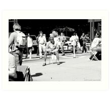 Man Seated Herald Square, NYC Art Print