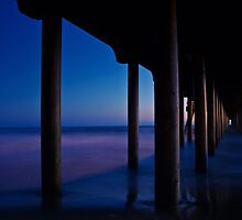 Under the Pier at Night by socalgirl