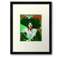 Madame Kate and the Big Hat Framed Print