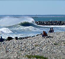 Hurricane Igor Sends Ocean Waves - Point Judith - Rhode Island by Jack McCabe