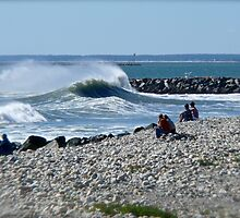Hurricane Igor Sends Ocean Waves - Point Judith - Rhode Island by Jack McCabe