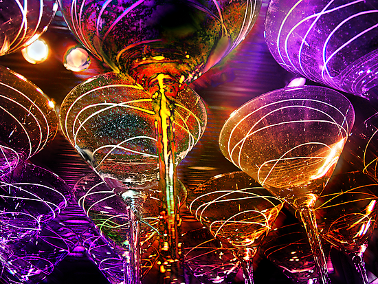 fancy martini glasses by brian gregory
