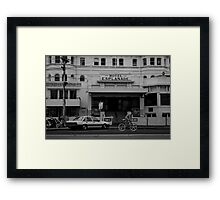 Andi Di Donato passing the Esplanade Hotel Framed Print