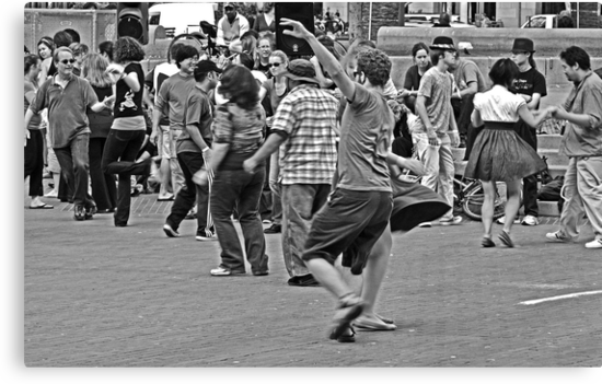 Urban Living in San Francisco - Dancing in the Street by Buckwhite