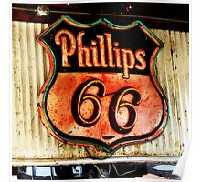 phillips 66 sign, route 66 Poster