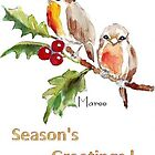 2 Little Robins - Season&#x27;s Greetings! by Maree Clarkson