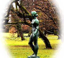 Statue by the Lake by Charmiene Maxwell-batten