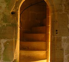 Staircase, N.W.Tower, Bodiam Castle by wiggyofipswich