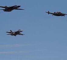RAAF Formation Fly-by by Daniel McIntosh