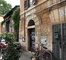 Street, Bike (Trastevere, Rome) by PleasureInc