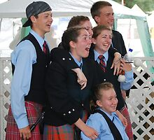 Laughter at the Scottish Highland Games by Marjorie Wallace