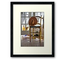 Country Chair Framed Print