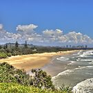 Dreamtime Beach from Fingal's Head, NSW, Australia by Bob Culshaw
