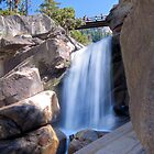 Unnamed Waterfall Between Vernal & Nevada Falls by Don Claybrook